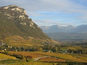 Fall vineyards in Chignin