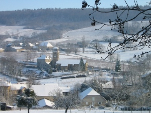 The village of l'Etoile in the snow