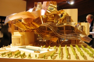 Frank Gehry model for the Marqués de Riscal hotel