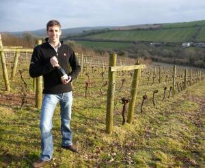 Sam Lindo in his vineyard