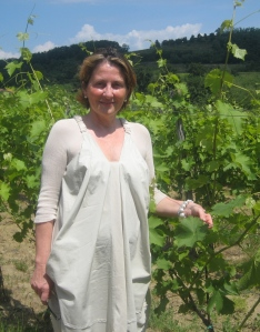 Patrizia Felluga in her vineyard