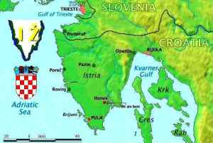 Map of Istria