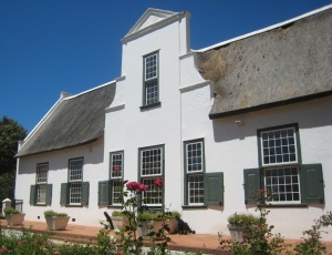 Cape Dutch architecture at Klein Constantia