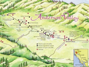 Anderson Valley map